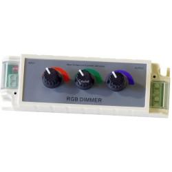Kontroler RGB Manualny, 3 Pokrętła 12V 108W