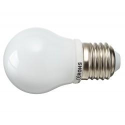 Żarówka E27 8 LED SMD 2835 Kulka Czerwona 2,5W
