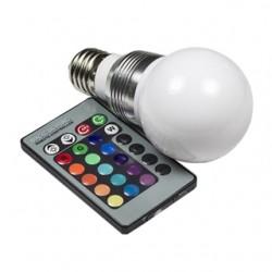 Żarówka E27 1 Power LED RGB + Pilot IR 5W