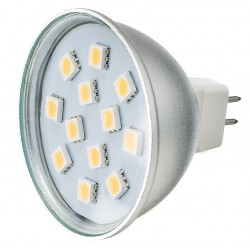 Żarówka MR16 12 LED SMD 5050 Zimna Biała 2W