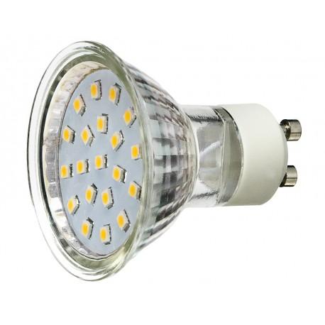 Żarówka GU10 20 LED SMD 3528 Zimna Biała 1,2W