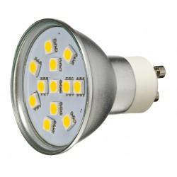 Żarówka GU10 12 LED SMD 5050 Biała Ciepła 2W