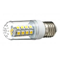 Żarówka E27 27 LED SMD 5050 Corn Transparentna Ciepła 4W